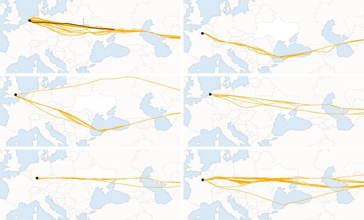 Mapas da Bater de Malaysia Airlines Flight 17 - NYTimes.com