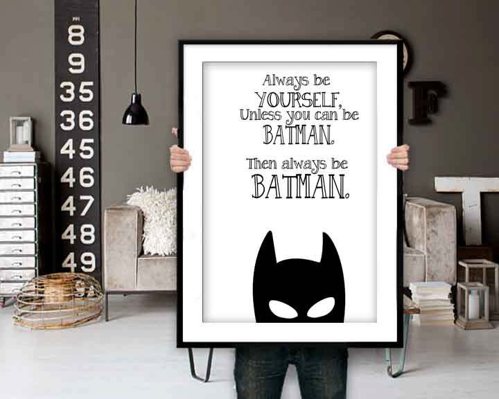 Batman Quotes - Batman Print, Batman Art, Inspirational Quote, Modern Art…