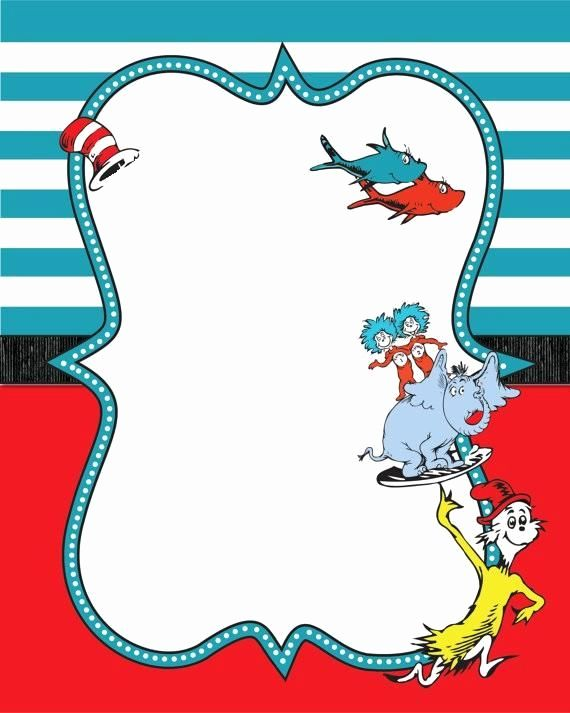 Dr Seuss Invitation Template Free Inspirational Image Result For Dr Seuss Printable Border Seuss Baby Shower Dr Seuss Invitations Dr Seuss Classroom