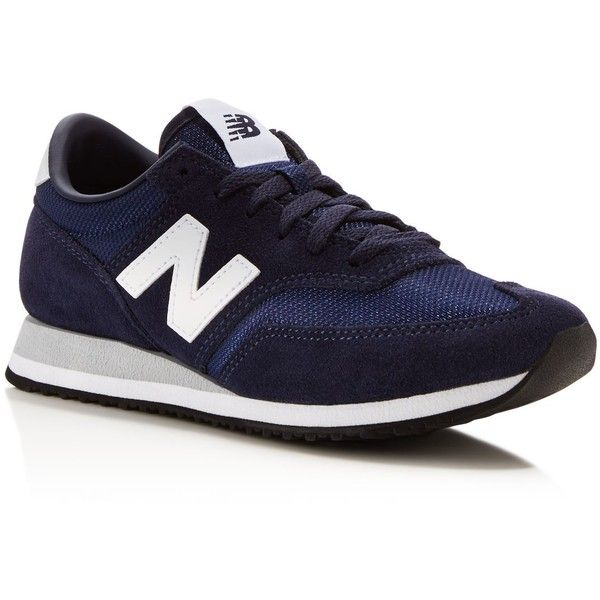 New Balance 620 Lace Up Sneakers (300 BRL) ❤ liked on Polyvore featuring shoes, sneakers, navy, new balance, new balance footwear, laced up shoes, lace up shoes and navy blue sneakers