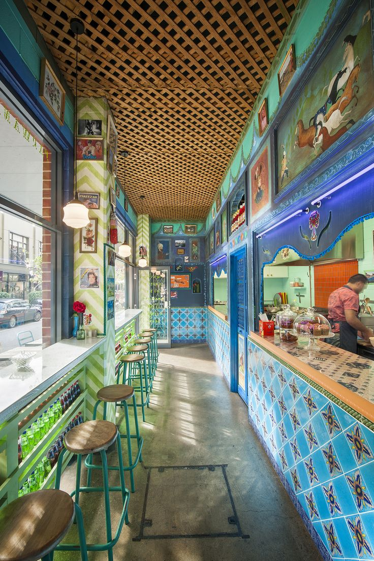 """Creating experiences, as familiar as they are surprising,"" seems a worthy impetus for the eccentric, but rich design of the new Parwana Kutchi Deli."