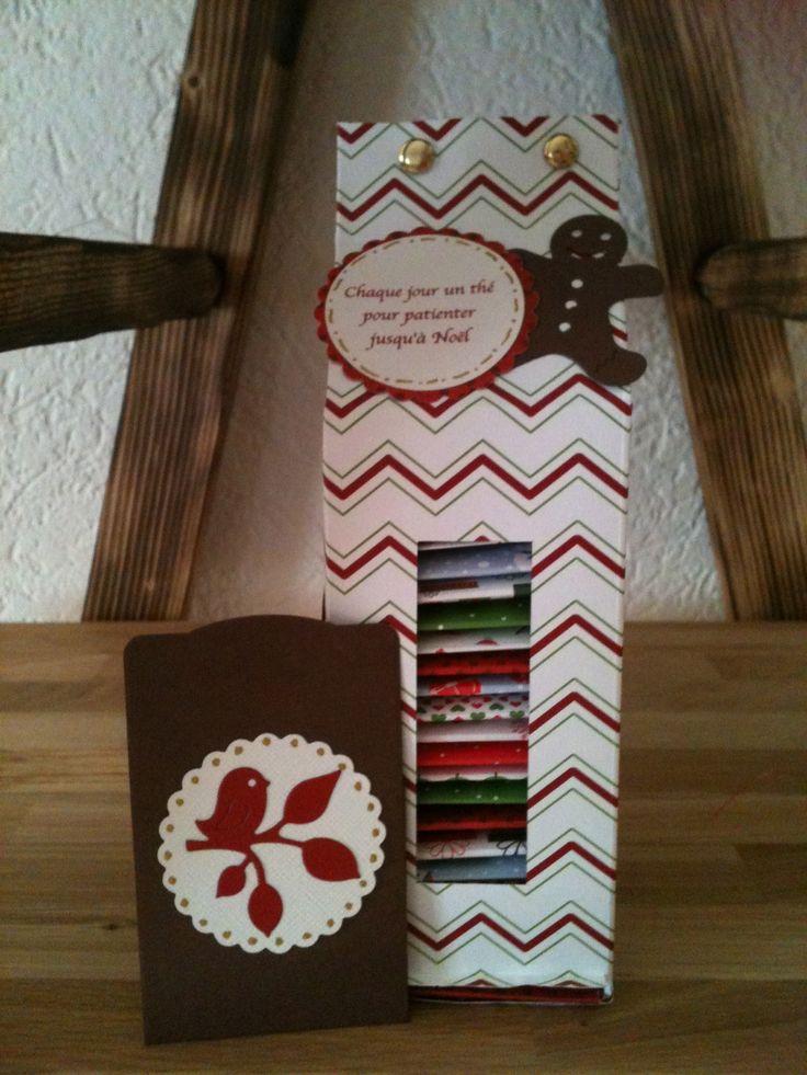Calendrier de l'Avent pour patienter jusqu'à Noël… Un tisane chaque jour pour se réchauffer. Offert à une amie très chère.