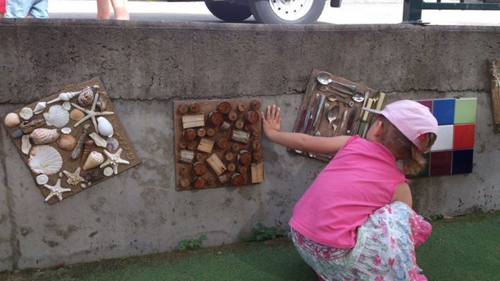 """Lovely outdoor sensory wall at CCA Family Day Care ("""",)"""