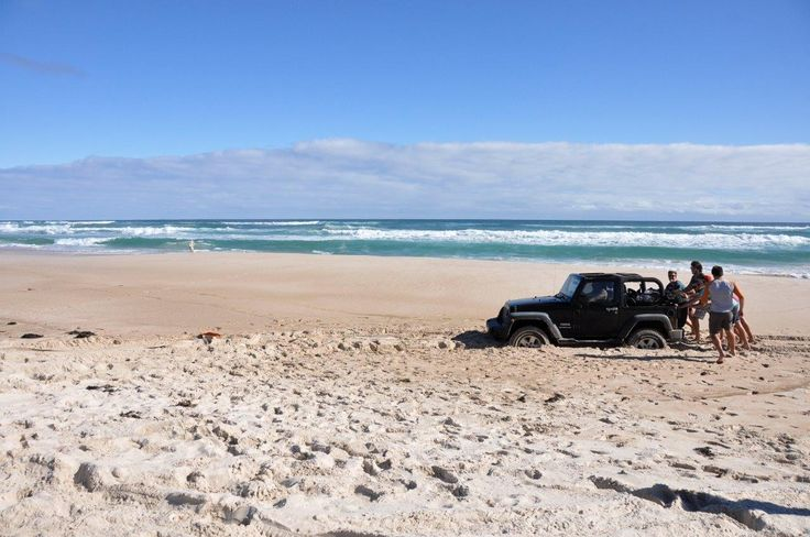 Not the best choice of tyre pressures! http://www.4wdingaustralia.com/4x4/whats-the-best-tyre-pressures-for-beach-driving/
