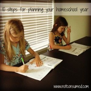 10 steps for planning your homeschool year - Not Consumed