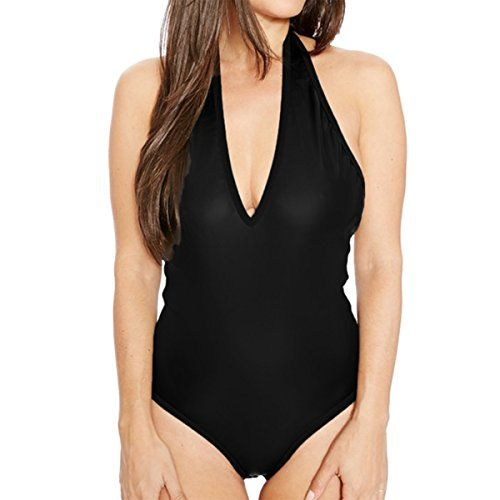 New Trending Bodysuits: E.JAN1ST Women's Thong Bodysuit Halter Neck Bodycon Romper One-Piece Dance Leotards, Black£¬USsizeM=TagsizeS. Special Offer: $13.99 amazon.com E.JAN1ST Women's Thong Bodysuit Halter Neck Bodycon Romper One-Piece Dance LeotardsHalter-neck leotard featuring open back and brief-cut leg openingsSoft, strethy, plain color, ligthweight fabric with deep V-neck designWe recommend you wear it as basic...
