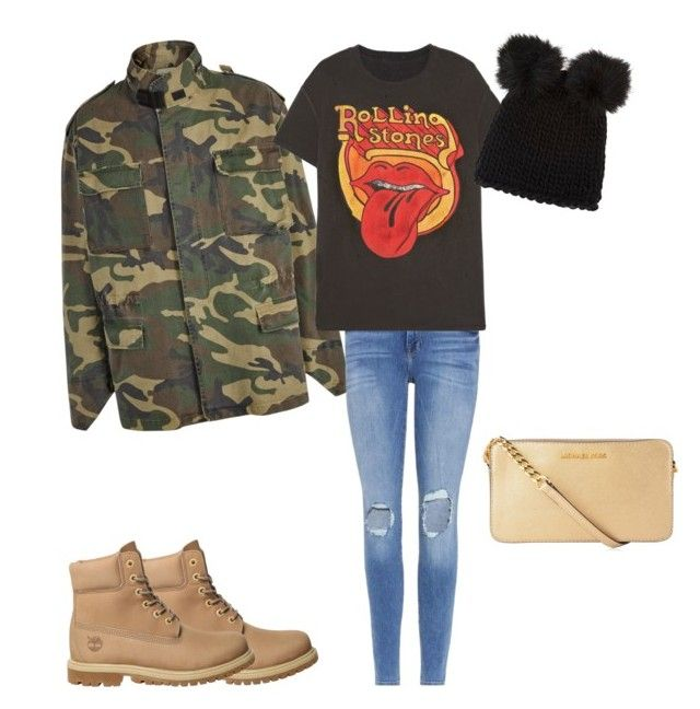 """""""Sans titre #106"""" by miachic on Polyvore featuring mode, Yeezy by Kanye West, Frame, MadeWorn, Barneys New York, MICHAEL Michael Kors et Timberland"""