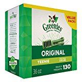 GREENIES Dental Dog Treats Teenie Original Flavor 130 Treats 36 oz.