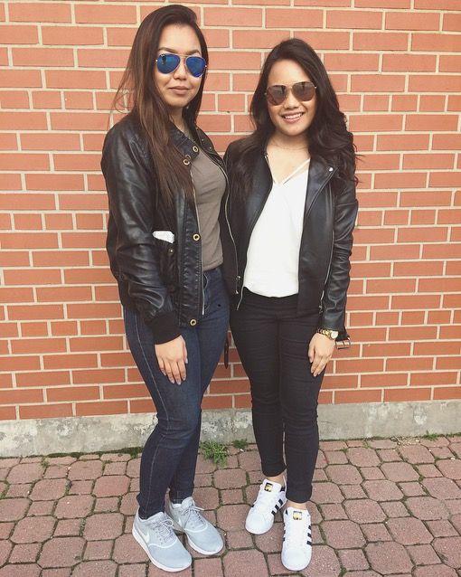 #besties #OOTD #leather #toronto