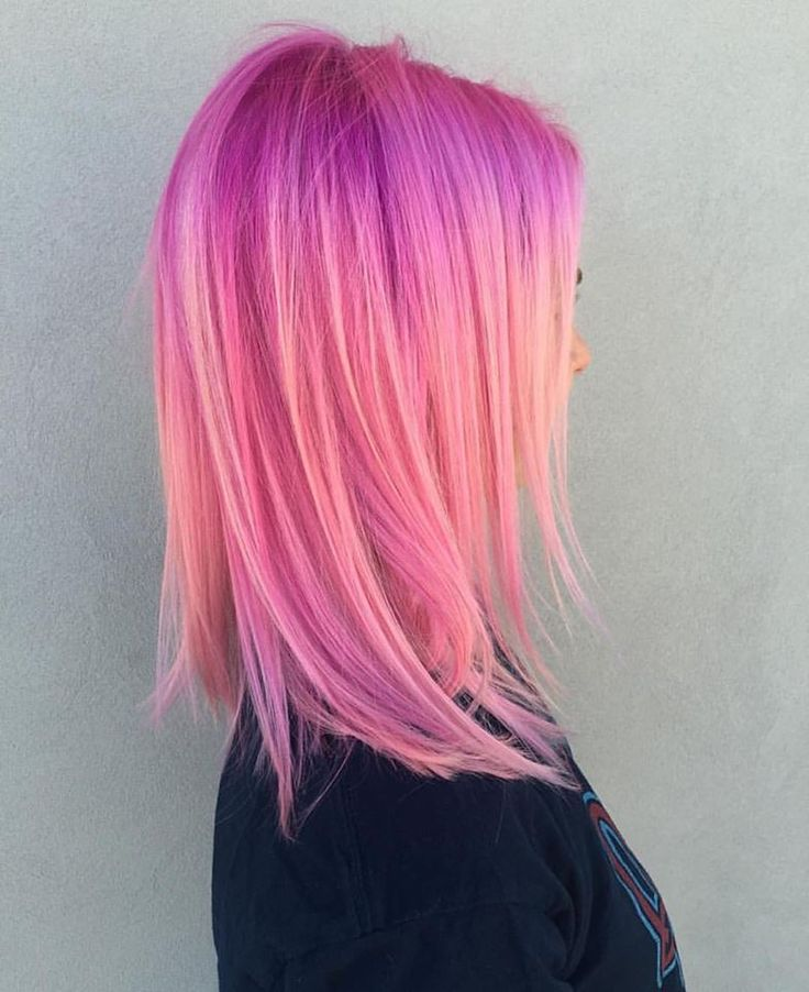When hair is actually perfect // @hairycatt #pravana #pinkhair