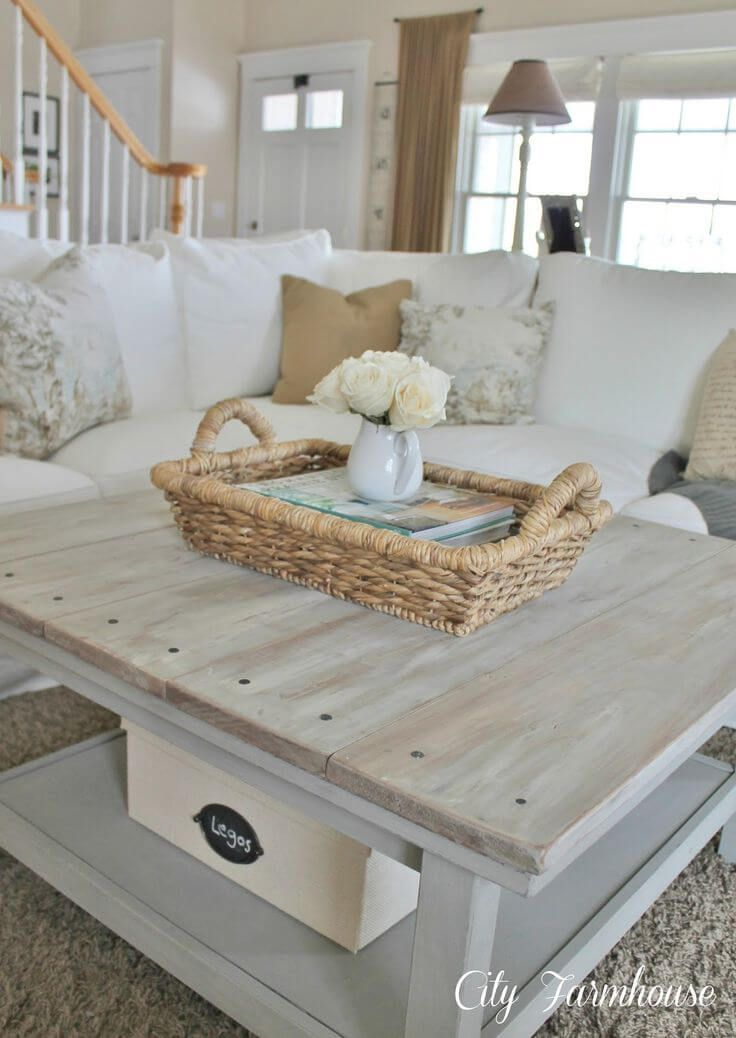 25 Diy Farmhouse Coffee Table Ideas That Are Both Practical And