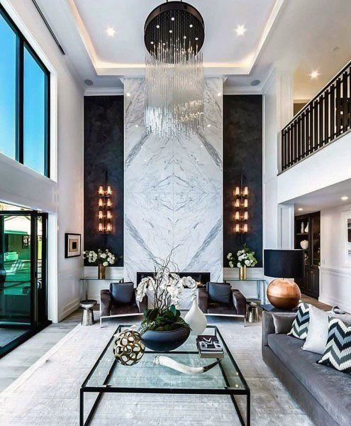 Top 70 Best Great Room Ideas Living Space Interior Designs Living Room Design Modern High Ceiling Living Room Luxury Living Room