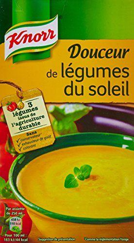 Knorr Douceur de Légumes Du Soleil: 1l 3 légumes issus de l'agriculture durable. Sans colorant, sans exhausteur de goût, sans…