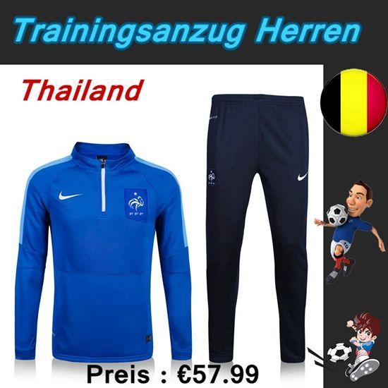 Die Schönsten Trainingsanzüge Fussball Herren Kits Frankreich Blau Marine Seson 2015 2016 Billig Kaufen