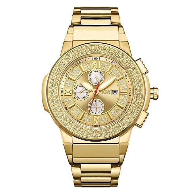 Jbw Men S Jb 6101 Saxon Stainless Steel Genuine Diamond Watch Review Gold Plated Watch Stainless Steel Bracelet Gold Watch
