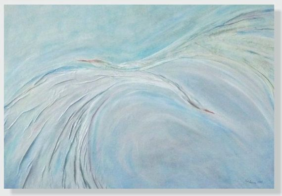 Ocean Painting Sea Painting Seagulls Gift for Home #originalpainting, #abstractpainting, #leatherpainting, #wallartdecor, #homedecor, #oceanpainting, #seepainting, #oceanart, #birdspainting