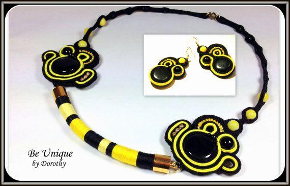 FREE Shipping SOUTACHE SET soutache necklace by BeUniqueGallery