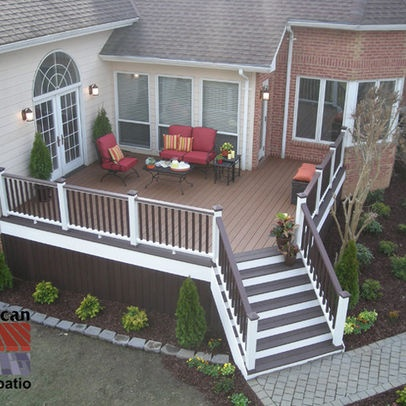 Two tone deck ideas google search outdoor space for Balcony colour combination