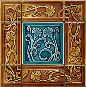 Carreaux du Nord  Creates handmade art tiles featuring nature-inspired Arts & Crafts motifs. Tiles can be used individually for decorative display, or in combination with the company's border designs and field tiles.