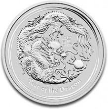 Deze Lunar Dragon 1 troy ounce 2012 zilveren munt hoort bij het prachtige aanbod zilveren munten van Dutch Bullion! Deze zilveren munt is te vinden op http://www.dutchbullion.nl