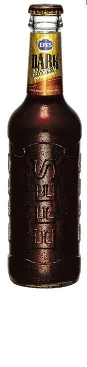 Cerveja Efes Dark Brown, estilo Spice/Herb/Vegetable Beer, produzida por Anadolu Efes, Turquia. 6.2% ABV de álcool.