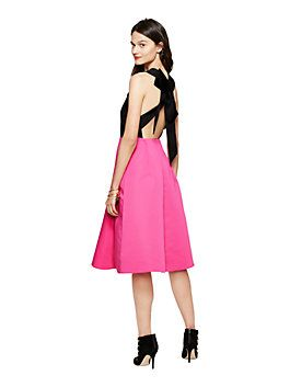 colorblock bow back dress by kate spade new york