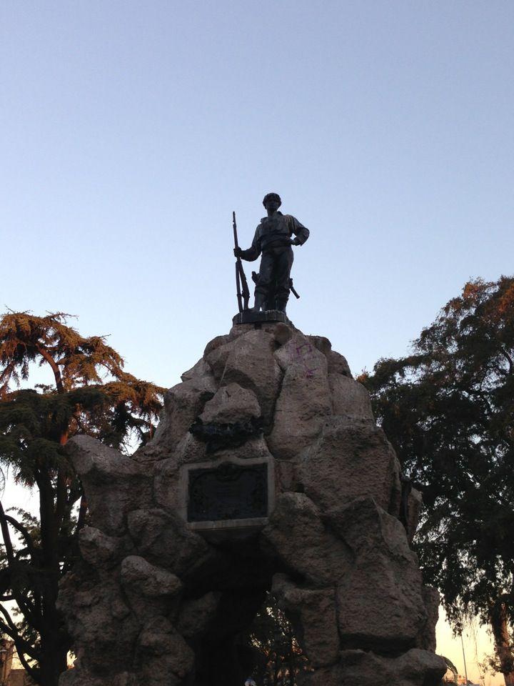 Plaza Yungay (Plaza del Roto Chileno) en Santiago de Chile, Metropolitana de Santiago de Chile