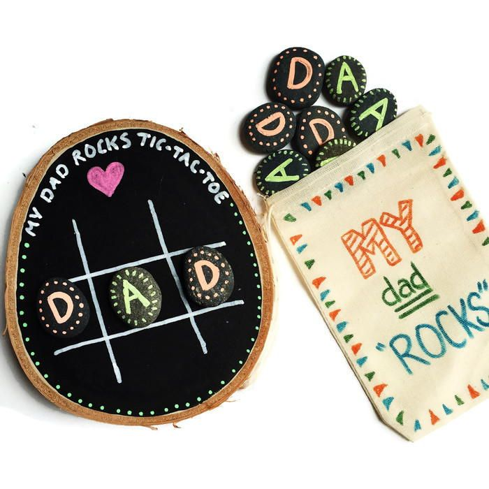 Tic Tac Toe Father's Day Craft