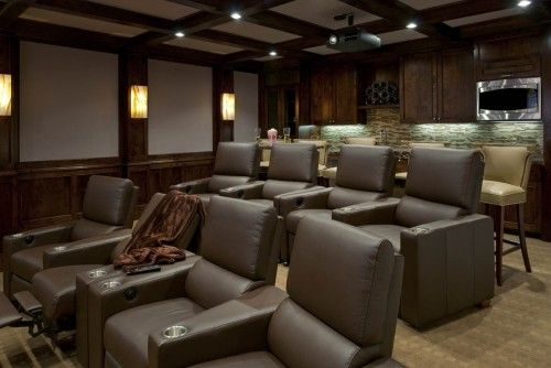 It's equipped with a full bar, a microwave, a dishwasher and state-of-the-art audiovisual equipment, and has an insulated ceiling that blocks outside sound.