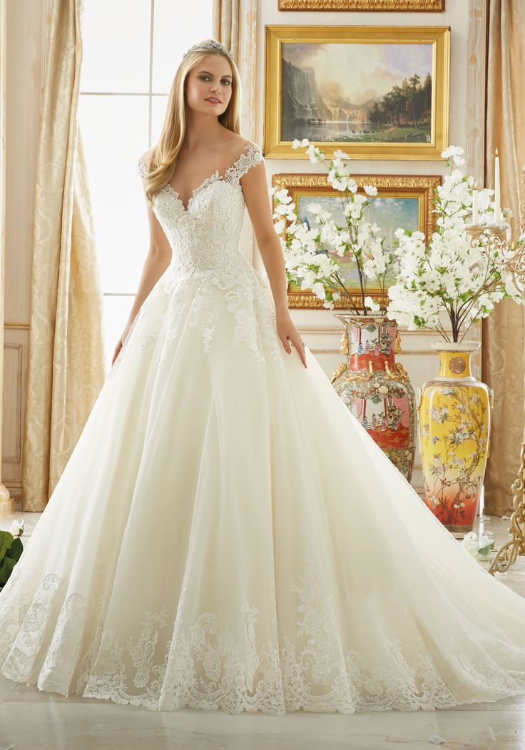 Frosted Beading On Alencon Lace With Wide Scalloped Hemline Mori Lee Bridal Wedding Dress Elevate Your Expectations For How A Can Make You