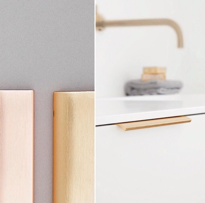Furnipart Edge Straight in the new Brushed Brass finish