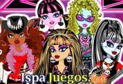 Juego de Monster High Rock Band   JUEGOS GRATIS: Hermosas chicas de una Banda de Rock al estilo monster, tienes el trabajo de vestirlas, maquillarlas, en si cambiarles el look para el espectáculo de la noche y lucir con su propio estilo y belles, también podrás agregarles accesorios musicales.