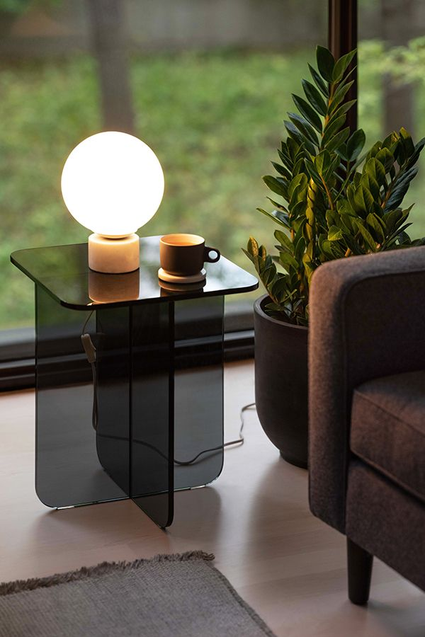 Verre End Table Eq3 Glass Table Decor End Tables Glass Accent Tables