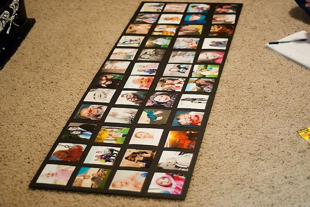 what to do with those pictures you don't have frames for...cute, easy, and inexpensive...that's what I'm talkin' bout!