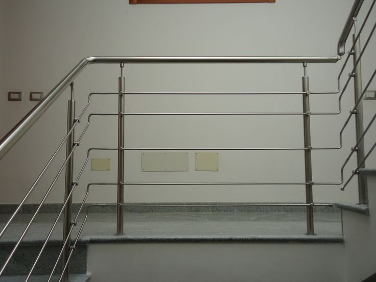 Ringhiera scala interna acciaio inox steel factory snc