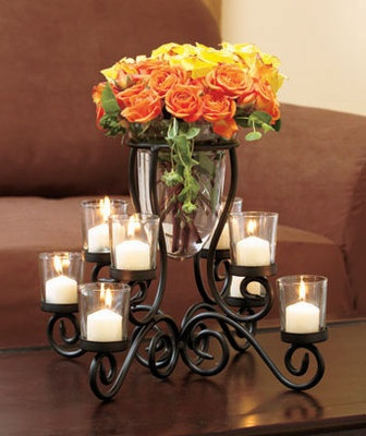 26 best centerpieces images on pinterest calla lily for Candle dining room centerpieces
