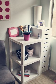 IKEA Lack Tables Placed Together…great idea for a bedside table or end table in the living room                                                                                                                                                                                 Plus