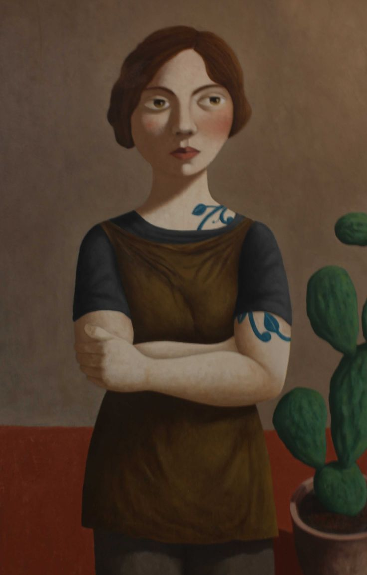 """""""Girl with Cactus"""" by Kent McCormack"""