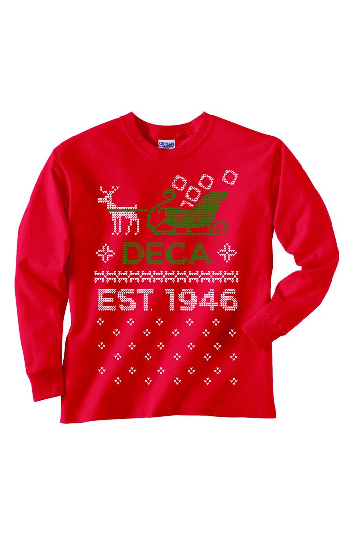 Ugly Holiday Sweater, Red