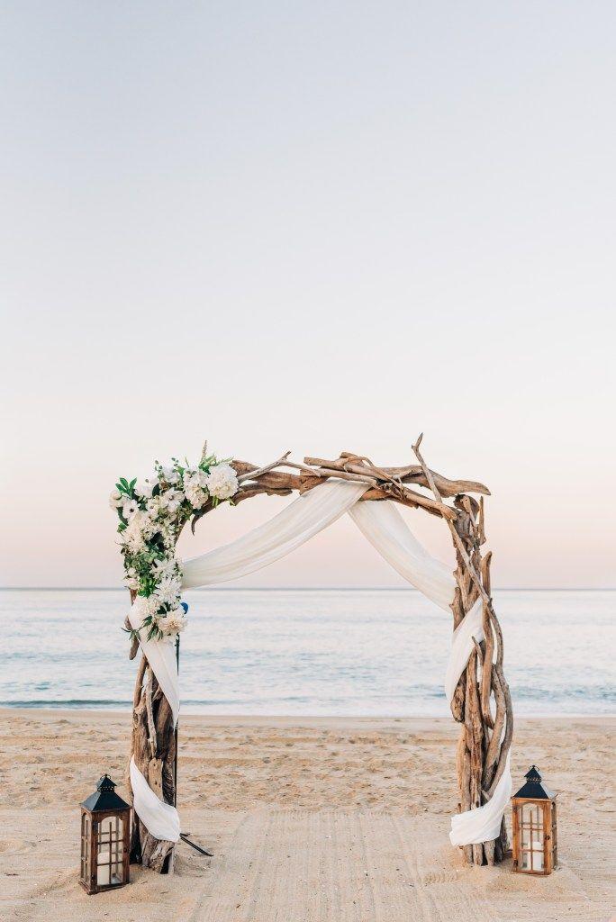 Outer Banks Sunset Wedding Jeff Amanda Sunset Beach Weddings Sunset Wedding Beach Wedding Arch