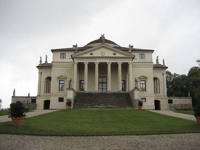 """Villa Capra """"Viilla La Rotonda"""" designed by Andrea Palladio. s. 1570. Near Vicenza, Italy."""