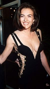 Liz Hurley's safety pin dress