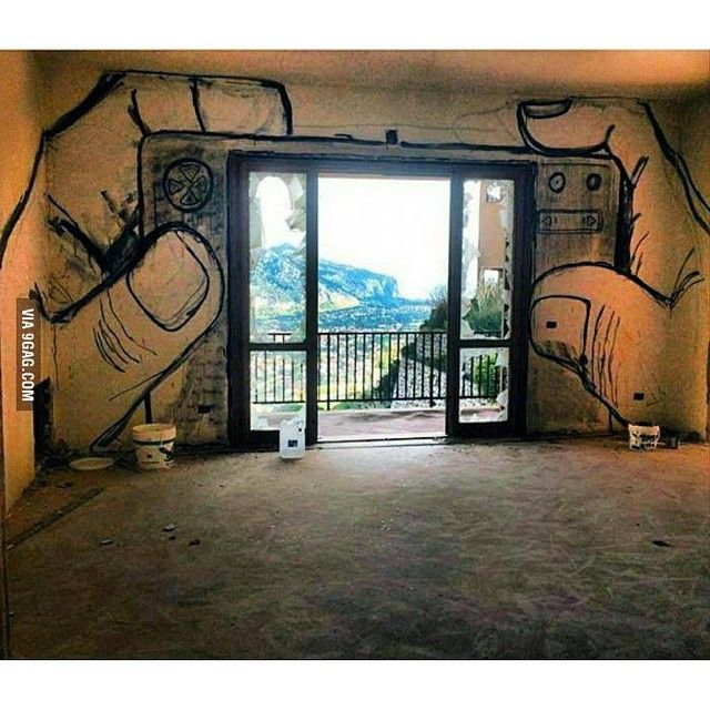 """Don't forget... The real world exists beyond your mobile device! #9gag"" street art. http://instagram.com/p/ysZLsxDJ5U/"