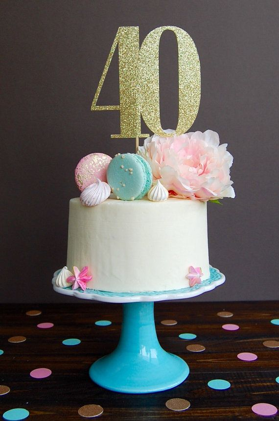 Cake topper forty cake topper 40th birthday by CelebratedMoment