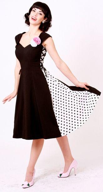 Side Effects Polka Dot Pin Up Dress by Bettie Page: Dot Side, Polka Dots, Style, Effects Polka, Polkadot, Dot Pinup, Polka Dot Dresses, Pin Up Dresses