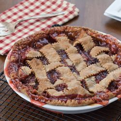 Nothing better in the spring than a homemade Strawberry Rhubarb Pie.