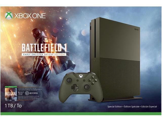 $240 Xbox One S 1 TB Console - Battlefield 1 Special Edition Bundle #Microsoft