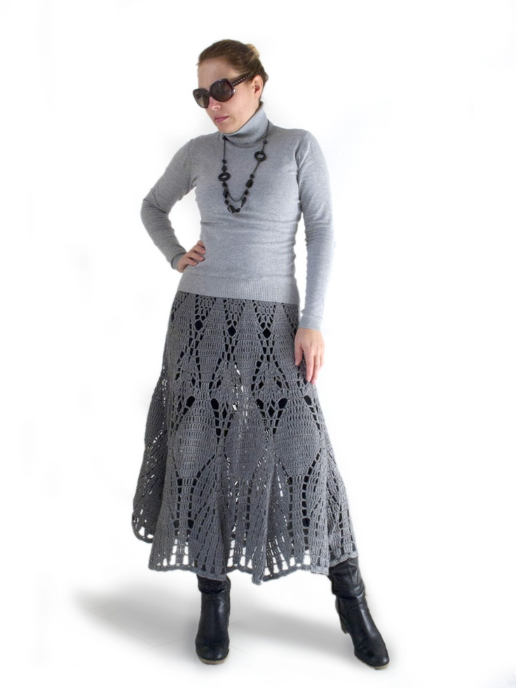 1000+ images about Crocheted & Knitted Skirts, Free ...