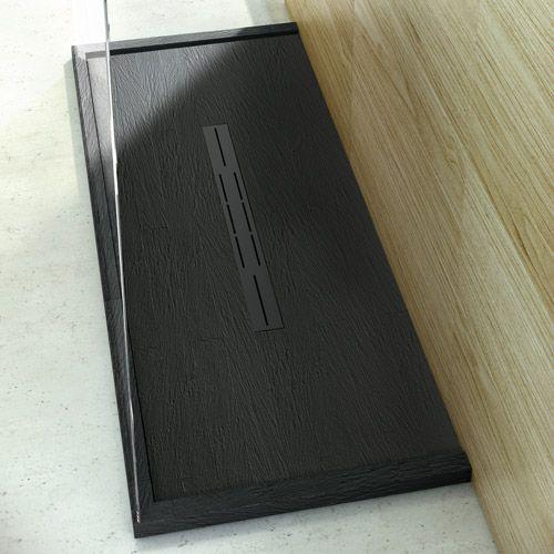 this black slate tile effect ultra low profile designer. Black Bedroom Furniture Sets. Home Design Ideas