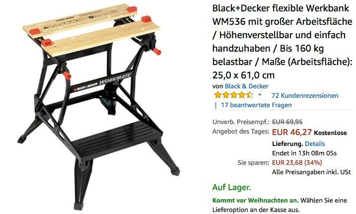 Black+Decker flexible Werkbank WM536 | Haus und garten ...